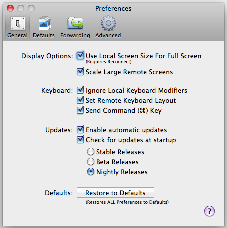 CoRD: Remote Desktop for Mac OS X